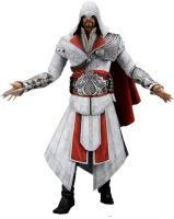 Assassin's Creed Brotherhood – 7″ Action Figure – Ezio hooded (White)