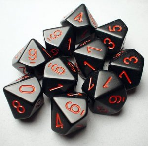 CHESSEX RPG MATY BLACK/RED