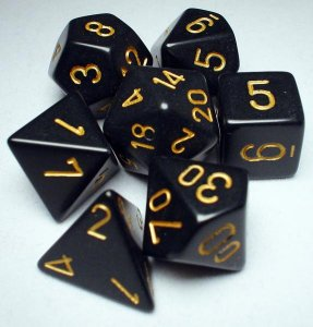 CHESSEX RPG MATY BLACK/GOLD