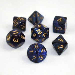 CHESSEX RPG СТИХИИ SCARAB ROYAL BLUE/GOLD