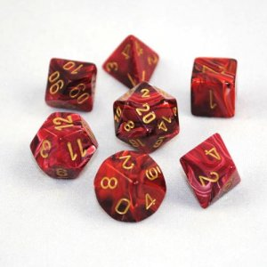 CHESSEX RPG СТИХИИ VORTEX BURGUNDY/GOLD