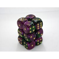 Gemini Purple-Green/Gold 12x16mm D6