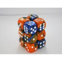 Gemini Blue-Orange/White 12x16mm D6