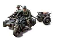 1:32 German Zundap KS 750 Motorcycle and Side Car Eastern Front, 1943